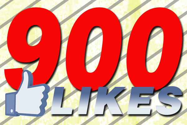 900 Facebook LIKES Announcement